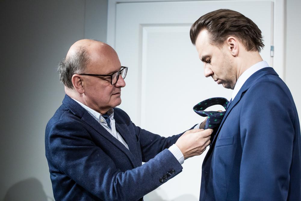 Paweł Pitera i Adam Szarek (w spektaklu - Erik Swan)